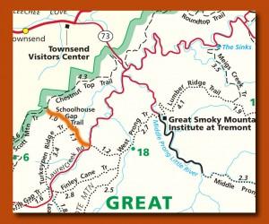 school house gap trail map