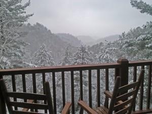 Winter Scene at Heaven's View Cabin!