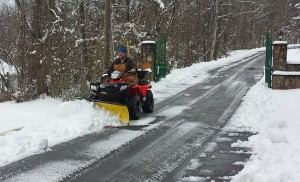 Smoky Mt Golden Cabins Plowing Snow!