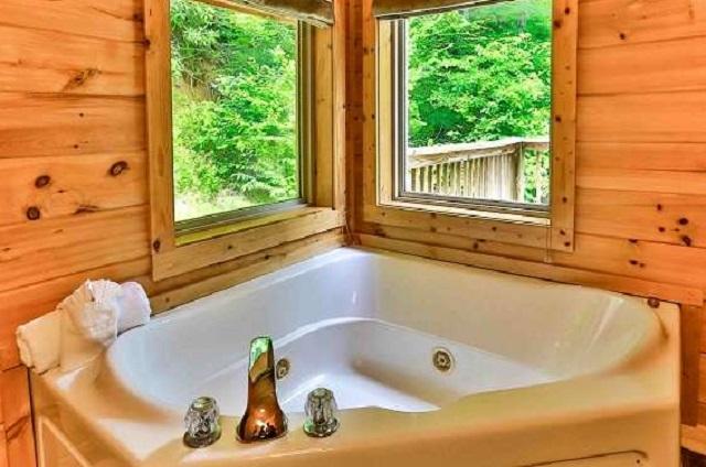 bear falls cabin jacuzzi tub