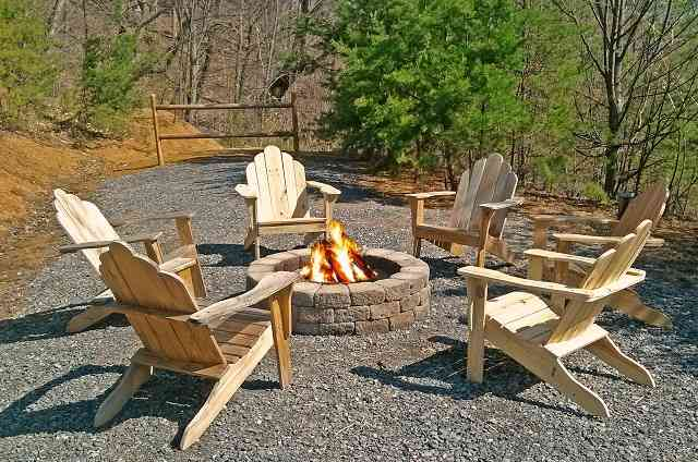 golden view lodge fire pit