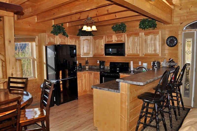 precious memories cabin kitchen