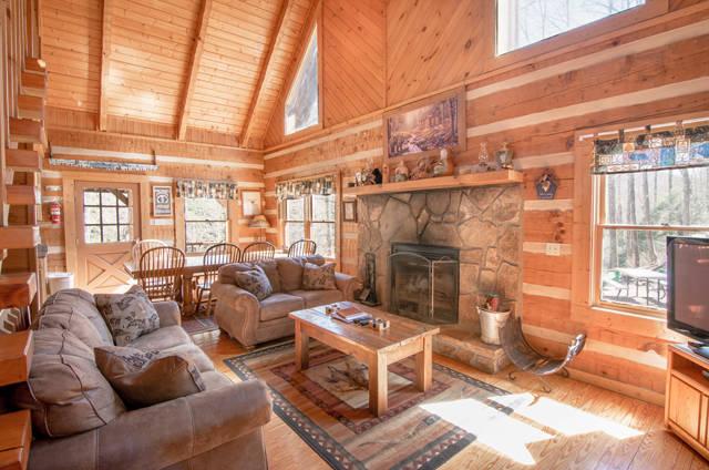bear lodge fireplace
