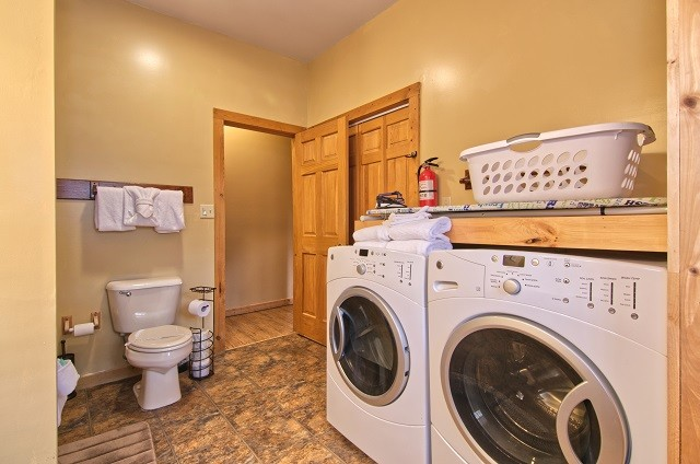 front load washer & dryer!